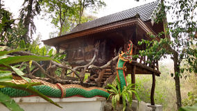 Buddhist monk's house in forest temple Royalty Free Stock Photography