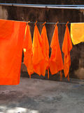 Buddhist monk's robe. In a temple in Thailand Stock Photos