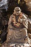 Buddhist monk sculpture Stock Image