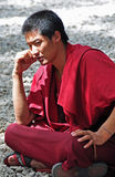 Buddhist monk at Sera Monastery Royalty Free Stock Photos