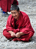 Buddhist monk at Sera Monastery Stock Photo