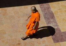 Buddhist Monk and shadow Stock Photos