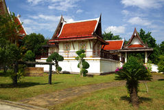 Buddhist monk sitting Temple, Thailand Royalty Free Stock Photos