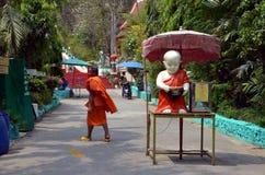 Buddhist monk statue Stock Photo