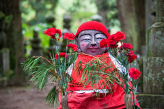 Buddhist monk statue in Okunoin Cemetery,Koyasan, Wakayama, Japa. Image of Buddhist monk statue in Okunoin Cemetery,Koyasan, Wakayama, Japan Royalty Free Stock Photography