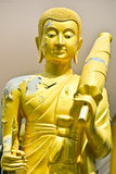 The Buddhist Monk Statue Royalty Free Stock Photography