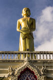 Buddhist monk statue in Wat Mokkanlan Stock Photos