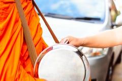 Buddhist monk of Thailand stock image