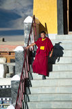 Buddhist monk from Thiksey monastery. India Royalty Free Stock Images