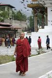 Buddhist monk, Thimphu, Bhutan Royalty Free Stock Images