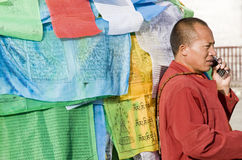Buddhist monk  in Tibet Stock Image