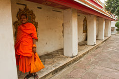 A Buddhist Monk of Wat Pho, Bangkok, Thailand Royalty Free Stock Images