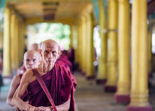 Buddhist Monks in Bago Royalty Free Stock Photography