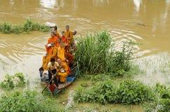 Buddhist monks in battambang cambodia Royalty Free Stock Image