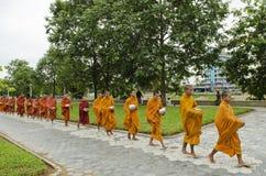 Buddhist monks in battambang cambodia Stock Photo