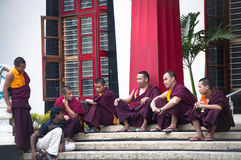 Buddhist Monks of Bylakuppe, the little tibet in India Stock Photo