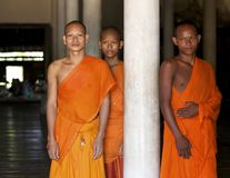 Buddhist Monks in Cambodia Stock Images