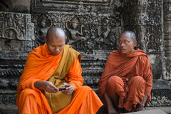 Buddhist monks in Cambodia Royalty Free Stock Photos