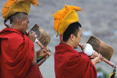Buddhist monks on ceremony Stock Photography