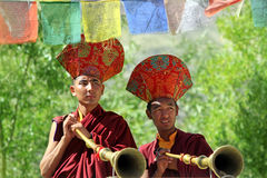 Buddhist monks on ceremony Royalty Free Stock Photos