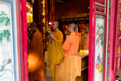 Buddhist monks at ceremony Royalty Free Stock Photography