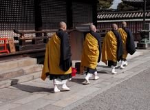 Buddhist monks group Royalty Free Stock Photo