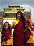 Buddhist Monks - Kathmandu - Nepal royalty free stock photo