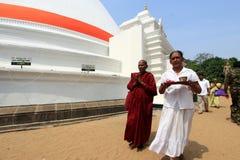 Buddhist monks at Kelaniya Raja Maha Vihara Stock Photography