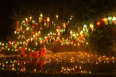 ฺBuddhist monks light candle Royalty Free Stock Photos