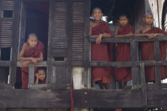 Buddhist Monks in Myanmar (Burma) Stock Images