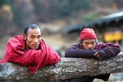 Buddhist monks, Nepal Stock Image