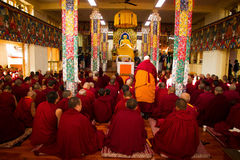 Buddhist monks and nuns, Dalai Lama temple, McLeod Ganj, India Stock Photos