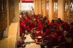 Buddhist monks and nuns, Dalai Lama temple, McLeod Ganj, India Royalty Free Stock Image