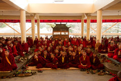 Buddhist monks and nuns, Dalai Lama temple, McLeod Ganj, India Royalty Free Stock Images