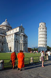 Buddhist monks in pisa Stock Photo
