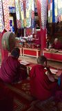 Buddhist monks praying at Lamayuru Monastery Royalty Free Stock Photos