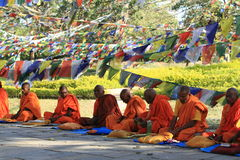 Buddhist monks are praying Royalty Free Stock Image