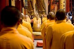 Buddhist monks in Shanghai Stock Image