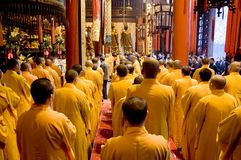 Buddhist monks in Shanghai Royalty Free Stock Photo