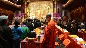 Buddhist monks, Singapore stock video