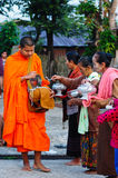 Buddhist monks in Thailand Stock Photo