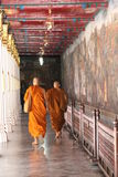 Buddhist monks visiting Grand Palace Royalty Free Stock Photography