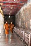 Buddhist monks visiting Grand Palace Royalty Free Stock Image