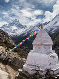 Buddhist Monument in the Himalayas Stock Photo