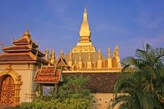 Buddhist Monument, Laos Royalty Free Stock Photo
