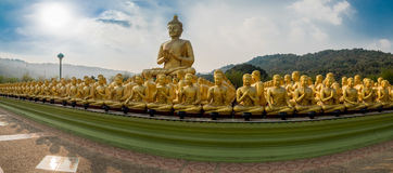 Buddhist monuments Park Makha Bucha, Stock Image