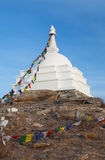 Buddhist mortar on the island Ogoy Stock Images
