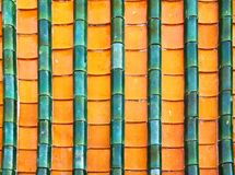 Buddhist motifs tiles roof Royalty Free Stock Image