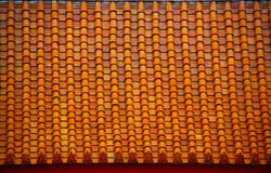 Buddhist motifs tiles roof in The Marble Temple Royalty Free Stock Photography