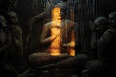 Buddhist mural Stock Image